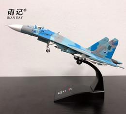 Vente en gros AMER 1/100 Échelle Russie Sukhoi Su-27 Flanker Fighter Moulé Sous Pression En Métal Avion Modèle Jouet Pour Le Cadeau / Collection / Décoration
