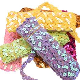 $enCountryForm.capitalKeyWord Australia - 5Yard Roll Sequin headband 1.5cm*5yards inelastic Glitter Hairband Lace band Hair Accessories DIY Headband garment Accessory