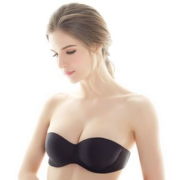 1d8c5f1bf3f Adjustable Seamless Gather Up Strapless Invisible Sexy Thin Bra for Wedding  Dress   Low Strapless Softly and Smooth Woman Bra