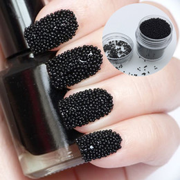 $enCountryForm.capitalKeyWord Canada - 10g box New Nail Design Nail Beads Studs Black Color Caviar Beads for Nails 3D Manicure Decorations Art Supplies DR118
