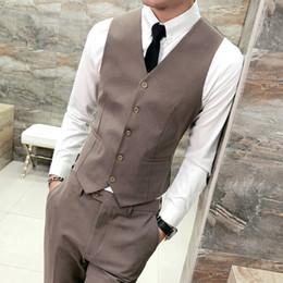 5960af7922c 2018 New Arrival Dress Vests For Men Slim Fit Mens Suit Vest Male Waistcoat Gilet  Homme Casual Sleeveless Formal Business Jacket