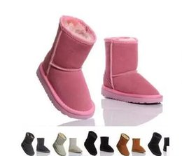 China 2018 will sell the new real Australian WGG5821 high quality kids boy girl children baby warm snow boots juvenile student snow winter boot cheap kids white high heels suppliers