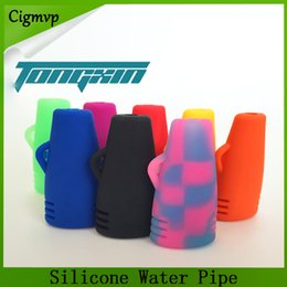 Spoon herb pipe online shopping - Portable Silicone Water Pipe for Dry Herb inches Spoon hand pipe Tobacco Water Pipe Glass Bong Hookah vs twisty glass