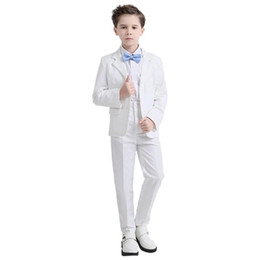 China 2018 new fashion white balck baby boys suit kids blazers boy suit for weddings prom formal spring autumn wedding dress boy suits cheap kids prom suits for boys suppliers