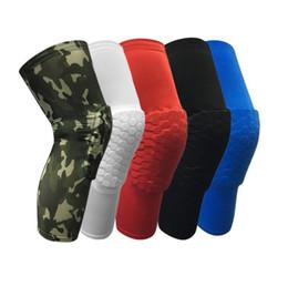 Favo de mel anti-colisão proteger o joelho homens e mulheres correndo respirável alongar as pernas com equipamentos esportivos outono inverno quente T4H0116 em Promoção