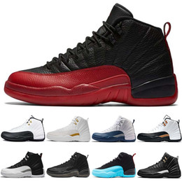 Discount rubber games - Cheap Basketball Shoes 12 12s Men Taxi The Master Flu Game French Gamma Blue CNY Black White Playoffs Mens Sports Sneake