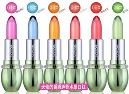 $enCountryForm.capitalKeyWord NZ - Fashion Lip Stick Lot Moisturizer Transparent Baby Pink Colour Magic Change Color Crystal Lip Balm Jelly Lipstick