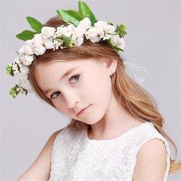 Опт 1 компл. Богемия цветок цветочные Hairband + браслет дети девушки Корона оголовье партии свадебные головные уборы аксессуары для волос