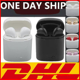 Headphones Retail Package Box Canada - EUB I7S TWS Twins Bluetooth Headphones with Charger Box Wireless Earbuds Headset for IOS Iphone X Android Samsung with Retail Packaging