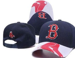 Discount snapbacks boston - Sports sunhat headwear Peak Curved Brim Flat B Logo SOX Snapback Boston Cap Adjustable All Team Baseball Ball snapbacks