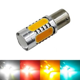 Discount 1156 red - BA15S 7.5W High Power S25 P21W 1156 COB Car LED Light Tail Brake Lamp Turn Signal Bulbs 12V White Yellow Red Iceblue