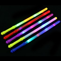 props concert supplies UK - 2018 Novelty LED Flashing Sticks Concert Cheering Props Glowing Wands Stick Children Birthday Glow Party Supplies