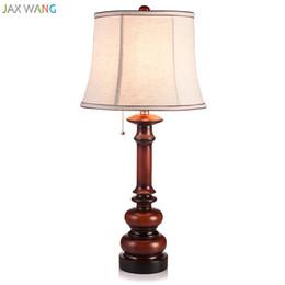 Amazing Discount Minimalist Bedside Table Lamps JW European Modern Minimalist Solid  Wood Table Lamp Fabric Lampshade Lights