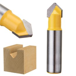 $enCountryForm.capitalKeyWord NZ - 1 2 Inch Shank V Groove Router Bit Carbide Alloy Coated Wood Working Cutter