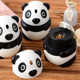 $enCountryForm.capitalKeyWord Australia - Creative Cartoon Panda Automatic Toothpick Holder Box Fashion Personality Cute Feature Panda Toothpick Holder Toothpicks storage