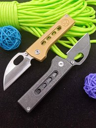 small d2 knife UK - New Mini Small Folding Knife D2 Stone Wash Blade Stainless Steel Handle Outdoor EDC Pocket Knives EDC Gear