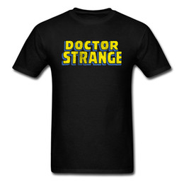 Logo Shirts For Men Canada - Dr Strange T Shirt Printing Leisure Fashion Summer Men's Tee Shirt On Sale Funny Design Yellow Logo T-Shirt For Men Hot Sale 100% Cotton
