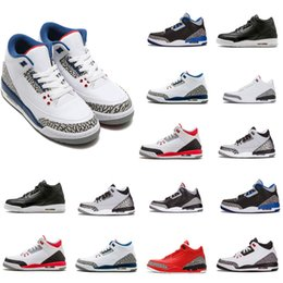 Wholesale hot Basketball Shoes Sport Blue FIRE RED Free Throw Line Blue Black Cement White Cement Sports Shoes trainer men Sneaker size US
