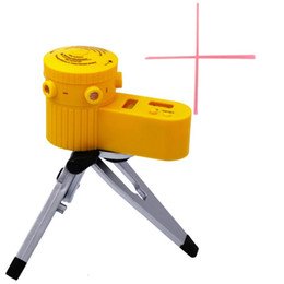 Plastic Tripod UK - Plastic Multifunction cross Line Tool Device LED Laser Level Vertical Horizontal 60 equipment measuring With Tripod