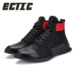 China ECTIC 2018 Fashion Justin kanye west ankle boots famous stars hip hop shoes dance high top casual sneakers zapatos hombre DP-168 cheap famous shoe kanye west suppliers