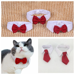 31585ad8482c Dog bow tie neckties online shopping - White Red Pet Dog Cat Collar  Princess Gentleman Necklace