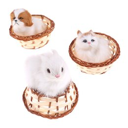 furry toys 2019 - Preety 2018 Cute Hare Rabbits In Basket Furry Plush Toys Craft Collectible Gift For Children Kids cheap furry toys