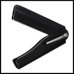 Mens Hair Canada - 1 PCS Mens Womens Beauty Handmade Folding Pocket Clip Hair Moustache Beard Comb