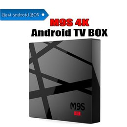 m8s 4k smart android tv box UK - New M9S 4K Rockchip RK3229 Quad Core 2G 8G Android 6.0 Smart TV BOX Hardware Decoding WIFI Better MXQ PRO M8S PRO S6
