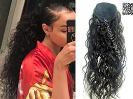 $enCountryForm.capitalKeyWord Canada - New hairstyle human hair ponytail extensions for black women,loose curly human brazilian virgin hair drawstring ponytails