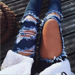 $enCountryForm.capitalKeyWord Canada - 2018 Fashion Spring Ripped Jeans Female Casual Washed Holes Boyfriend Jeans for Women Regular Long Torn Wild Denim Pants