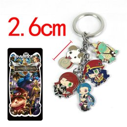 lol accessories Australia - Halder League of Legends Heroes LOL Keychain Model Keychain Jinx Katarina Lulu Rammus Accessories Keyring Gift
