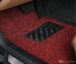 Discount tailoring materials - Red Black Purple Brown Spinning Mats Free Tailoring The Car Carpet Mats Spinning Three-Piece 52-1A 1192 PVC Material Sup