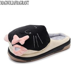 d701ae713b161e Cartoon toy beard cat Cotton slippers Leisure Woman Indoor Cotton Shoe  Simple Home slippers high quality Women shoes mm141