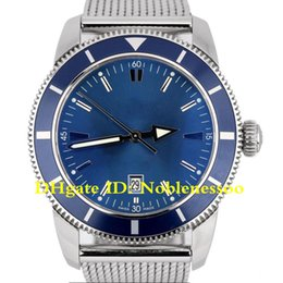 Discount superocean heritage watch - 2 Color luxury Mens Watch Aeromarine Superocean Heritage Stainless Steel Blue Dial 46 A17320 Date 46mm Wristwatch Men&#0