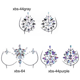 $enCountryForm.capitalKeyWord Australia - Sex Product Women Bra Breast Pasties Adhesive Stickers Body Paint Accessories Crystal Nipple Stickers Chest