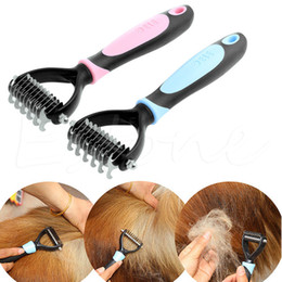 Yellow curlY hair online shopping - Large Pet Dog Knotted Fur Hair Remove Comb Cutter Trimmer Shedding Rake Brush Grooming Tools For Long Hair Curly Pet AAA892