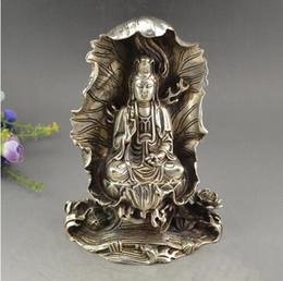 Nickel Fan Australia - Antique Bronze copper-nickel plated Bangouin sit lotus lotus leaf