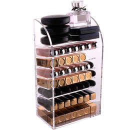 nail acrylic storage NZ - New Clear Acrylic Multi-layer Lipstick Holder Makeup Storage Box Desktop Makeup Organizer Cosmetic Tools Case Nail Polish Rack