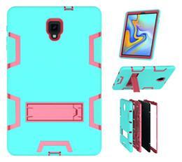 $enCountryForm.capitalKeyWord Australia - 3 in 1 Kickstand Hybrid Silicone PC Cover Outdoor Shockproof Armor Case For Samsung Galaxy Tab A 10.5 T590 T387 9.7 t820 IPAD 11 9.7 2018