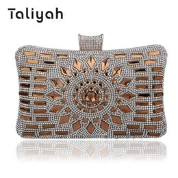 Ladies Evening Handbags NZ - Taliyah Handbags Women Famous Brands 2018 Gold Diamond Clutch Purse Ladies Evening Clutch Bags Wedding Bridal Bag bolsa feminina