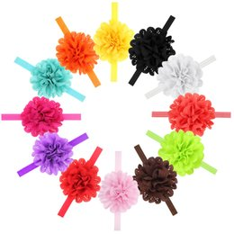 Wholesale Fshion Baby Girl Elastic Hairband Children Hair Wear For baby Head Band Flower Headband Baby Hair Accessories