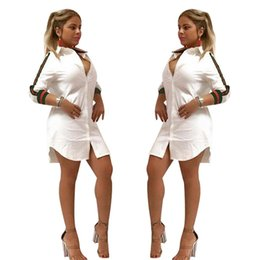 China Vestido De Verano 2018 Woman Spring Dresses Patchwork Clothes for Women Femme Half Sleeve Sexy Party Bodycon Club Shirt Dresses supplier striped shirts for women suppliers