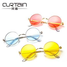 6ff0a1582b CURTAIN 2018 Classic Round Glasses Sunglasses Korean Version Retro Men s  Women s Fashion Sunglass Blinders Lunettes De Soleil
