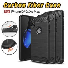 Iphone casIng desIgn online shopping - For iPhone XS Max iPhone Xr Rugged Armor Case for iPhone Plus Samsung Galaxy Note9 with Anti Shock Absorption Carbon Fiber Design