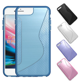 Iphone s online shopping - Carbon Fiber TPU Case Slim Soft Cover Shell Protective S Line Cases for iPhone X Samsung A8 Huawei P20 Lite