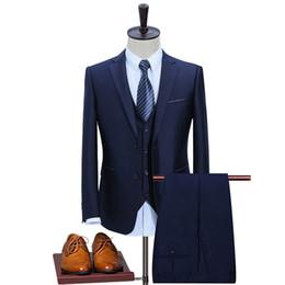 Charming suits online shopping - Navy Blue Slim Suit Men Suit Charming Party Ball Men s Casual Business Men s Coat Pants