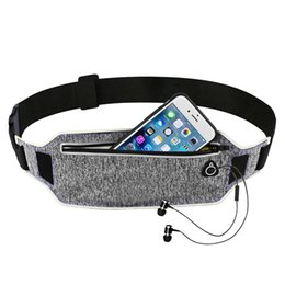 Discount running jogging pouch belt sport - Ultrathin Waist Bag Running Belt Waterproof Mobile Phone Holder Pouch Jogging Belt Belly Bag Women Gym Fitness Outdoor S