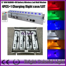 $enCountryForm.capitalKeyWord Australia - High quality Led battery wireless dmx led bar light LCD display DMX512 Battery long work time with Infrared control 4PCS +1 Case