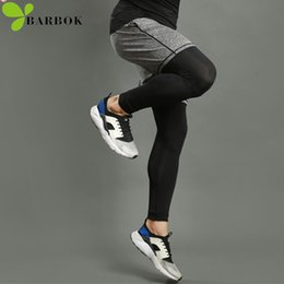 Discount basketball jogging suits - BARBOK men running sports leggings shorts suits set anti-sweat yoga basketball jogging pants men gym shorts running tigh