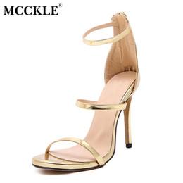 summer sandals new design 2019 - MCCKLE women fashion New Design High Heels Sandals Women Summer Non-Slip Rubber Sole Zip Stilettos Fashion Elegant Party